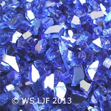 "3 LBS 1/4"" Cobalt Reflective Fireglass Fire Pit Rocks Fireplace Glass Crystals"