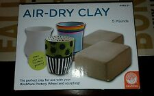 MindWare Air-Dry Clay 5 Pounds lbs NEW pottery wheel Potter's sculpting clay .99