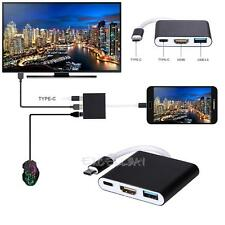 Type C USB 3.1 to USB-C HDMI USB 3.0 Female Adapter 3 in 1 Hub For Apple Macbook