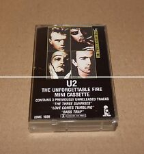 U2 UNFORGETTABLE AND FIRE - K7 PROMO - TRES RARE  COLLECTOR