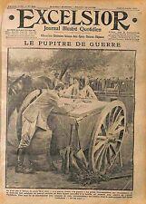 Caisson d'Artillerie Bureau de Poste Poilus Soldats Bataille de Verdun  WWI 1916