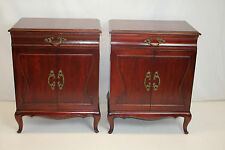 Pair of French Louis XV Commodes Bedside Night Tables,  All Original