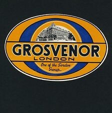 Grosvenor Hotel LONDON England Great Britain * Old Luggage Label Kofferaufkleber