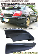 CS-Style Bottom Line Rear Lip Aprons (Fiberglass) Fits 05-07 Impreza STI