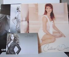 Lot of (5) Celine Dion 8x10 Glossy Photo Prints and Postcard from Fan Club