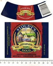 Beer Label - Stoudt Brewery - USA - Gold