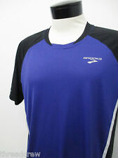 BROOKS PURPLE ATHLETIC JERSEY SHIRT sz L mens S/S^6102
