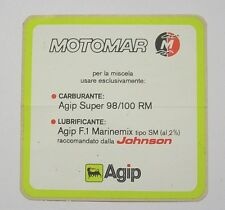 VECCHIO ADESIVO AUTO F1 / Old Original Sticker MOTOMAR AGIP JOHNSON (cm 10x10)