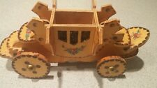 Wooden vtg carriage car stage coach ornament kit hand crafted