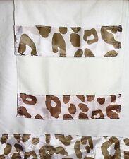 3PC DECORATIVE DESIGN DECOR BATHROOM BATH HAND WASHCLOTH IVORY LEOPARD TOWEL SET