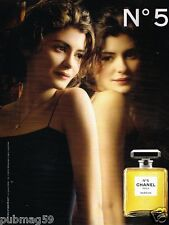 Publicité advertising 2011 Parfum Chanel N°5 avec Audrey Tautou