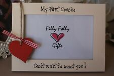 Personalised Photo Frame by Filly Folly! My First Cousin Baby Scan Gift!