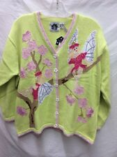 Women's sweaters, Storybook Knits, size 2x, lime green