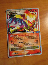EX Pokemon INFERNAPE LV.X Card Black Star PROMO Set DP10 Ultra Rare Tin Holo TCG