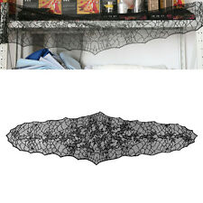 """Halloween Gothic Lace Black Spider Web Tablecloth 79"""" x 22"""" Table Cover Decor"""