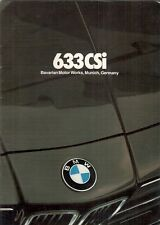 BMW 633 CSi 1981 USA Market Sales Brochure 6-Series
