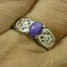 Filigree .925 Sterling Silver A quality Russian Charoite Finger Ring Size 8 1/4
