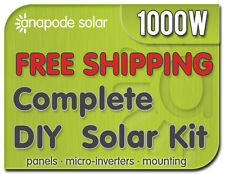 Solar Panel Kit with Enphase m215 - Do It Yourself for Home 1040W 1kw Complete