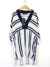 BNWT Zara Womens Navy Stripe Blouse Sie S (UK Size 10)