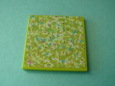 Lego plaque  6 x 6 decoree ou Scala Tile 6 x 6 with Floral Doormat Pattern 3118