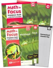 Grade 2 Math in Focus Homeschool Kit Semester 1 & 2 Singapore 2nd Curriculum