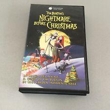 VINTAGE# MOVIE VHS FILM TIM BURTON NIGHTMARE BEFORE CHRISTMAS