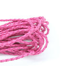 5M Pink Leatheroid Braided Cord Necklace Bracelet Jewelry Craft DIY Z001