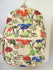 NEW* Kipling Seoul BAG TOTE STUDENT BACKPACK Laptop Sleeve Frond Botanical