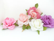 15PCS Artificial Rose Silk Flowers Heads for Hair Clip Brooch Floral Wedding A66
