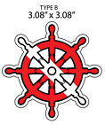 DIVE SCUBA FLAG SHIP HELM Sticker/Decal/Graphic