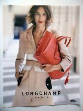 PUBLICITE-ADVERTISING :  LONGCHAMP Sac rouge  2016 Maroquinerie,Mode