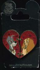 Lady and the Tramp 2 Two Piece Heart Valentine's Day Disney Pin 113657