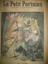 ALLEGORIE MORT MINEURS MINE VIRGINIE FLEAU COUP DE GRISOU LE PETIT PARISIEN 1907
