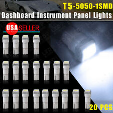 20xT5 5050 1SMD Cool White 58 70 73 74 Dashboard Gauge LED Wedge Lamp Bulb Light