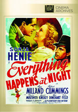Everything Happens at Night 1939 (DVD) Sonja Henie, Ray Milland - New!