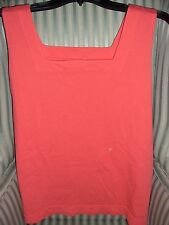 NWT!  PRODUCE 100%  COTTON SOLID COLOR BOXY TANK ON VIBRANT RED CORAL.. (XL)