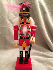 "Nutcracker Wooden Red Guard  Rifle 9"" Christmas Holiday Decoration Collectible"