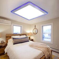 Modern Flush Mount LED Pendant Light Ceiling Lamp Bedroom Living Room Blue White