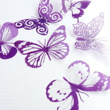 20 Clear Purple Butterflies for Cakes-Weddings-Toppers-Scrapbooking-Cards-Walls