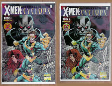 X Men Search for Cyclops Book 1 x 2 variants Inc signed & exclusive Chrome Cover