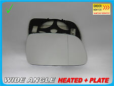 Wing Mirror Glass PEUGEOT 407 2004-2008 Wide Angle HEAT Right Side #G013