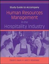 Human Resources Management in the Hospitality Industry, Study Guide, Ninemeier,