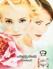 PUBLICITE ADVERTISING 035  1994  CACHAREL  eau de toilette ANAIS ANAIS