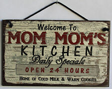 Mom Mom s Sign Kitchen Grandma Diner House Bake Cook Cookie Grand Parent Home
