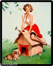Sexy Pin Up Well Built Roof Refrigerator Magnet