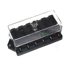 1 Sicherungsblock für 6 Sicherung Halter Fuse 6V 12V 24V mit Deckel Schwarz Neu