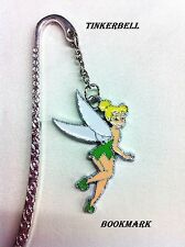 BOOKMARK SILVER TINKERBELL NEW -SIGNET DE LIVRE DISNEY HANDMADE Fee Clochette