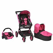 ** GIRLS ZOOM 3 IN 1 DOLLS CAR SEAT PUSHCHAIR BUGGY STROLLER PRAM DOLL SET GIFT