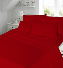 Thermal Flannelette 100% Brushed Cotton Flat or Fitted Sheet or Pillow Pair