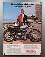 VINTAGE 1975 HONDA MT-250 MT250 K1 ADVERT IMAGE BANNER 2 FACES QUICK CHANGE ARTI